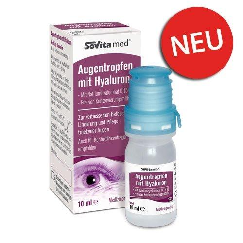 Augentropfen mit Hyaluron | Augenpflege | trockene Augen | Medizinprodukt | 10ml
