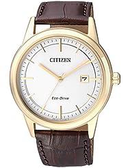 Citizen Herren-Armbanduhr Analog Quarz Leder AW1233-01A