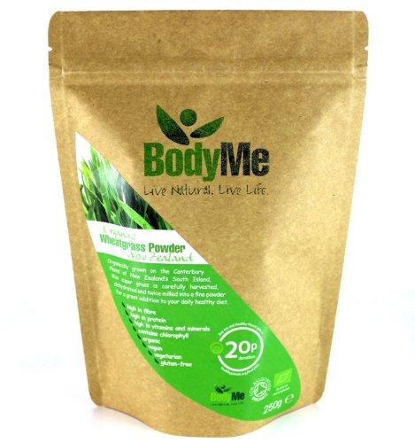 BodyMe-Organic-Wheatgrass-Powder-500-g-2-x-250g-Soil-Association-Certified