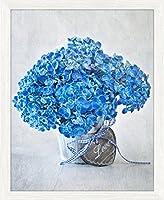 Bild gerahmt Blau Blumen 24cm x 30cm Wunderbar, Bild Fotografie