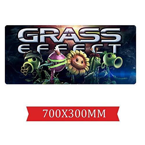 IGIRC Mauspad Plants vs. Zombies 700X300mm Mauspad, Speed   Gaming Mousepad, Erweitertes XXL großes Mousemat mit 2mm starker Basis, für Notebooks, PC, G - Von Plants Vs Bilder