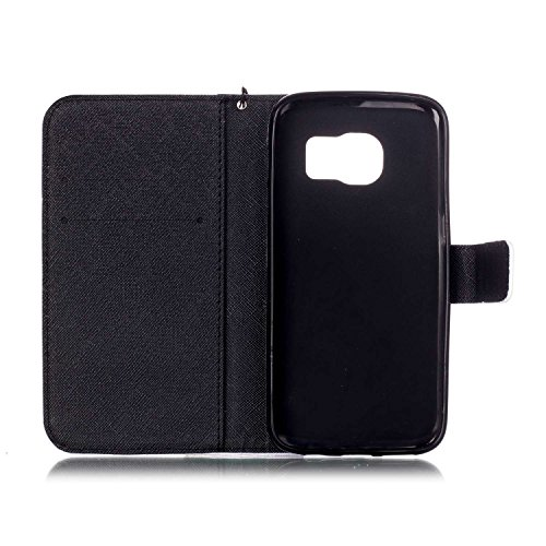 """Ooboom® iPhone 7 4.7"""" Hülle Flip PU Leder Schutzhülle Handy Tasche Case Cover Wallet Standfunktion mit Kartenfächer Trageschlaufe - Eule Baby Elefant"""