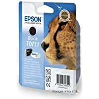 T0711 Black Epson Original Printer Ink Cartridge - Cheetah - C13T07114011