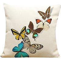 zolimx Mariposa pintura ropa cojín tapa tiro cintura almohadilla caso sofá Home Decor (E)
