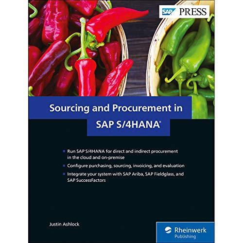 Sourcing and Procurement in SAP S/4HANA (SAP PRESS: englisch)