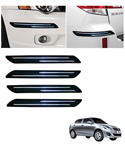 Autowheel Car Bumper Protector with Double Chrome Strip- Maruti Swift Dzire