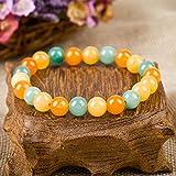 Aoligei Kreative National Wind Weibliche natürliche Bunte Achat Perlen Runde Kristallperle Armband Hand String Frauen