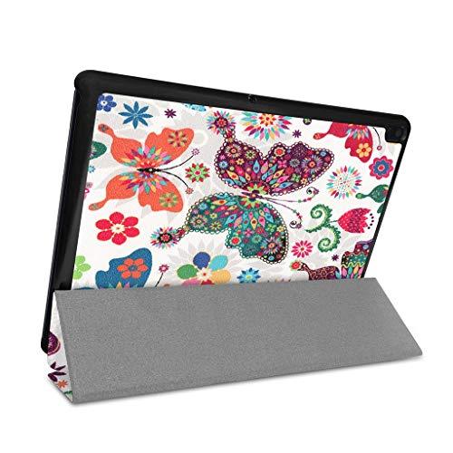 Wokee Für Lenovo Tab E10 32 GB TB-X104F Tablet 10,1 Zoll-Hülle Case Slim Fit Folio Premium Kunstleder Schutzhülle Ledertasche,Anti-Schmutz, Anti-Fingerabdrücke, Anti-Aging (E)