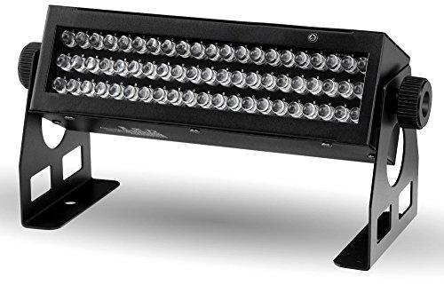 Showlite WW-6311 LED Wall Washer 63x10mm RGB (Wandstrahler, ideal für Gastronomie und Disco, DMX steuerbar, Master-Slave-Betrieb, Strobe- und Dimmfunktion, Automatik- und Musiksteuerung, langlebig) - Akzent Tisch Lampe