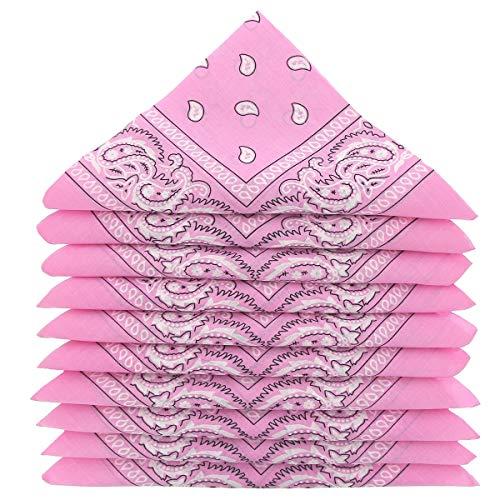 5er Pack 100% Baumwolle Paisley Halstuch Kopf Hals Schal (5er Pack, Pink) ()