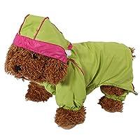 Manteau Imperméable Veste De Pluie Jaune Clair Étanche 6 Tailles Avec Capuche Protection Vêtements Pour Chien Chiot Animal