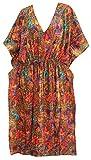 Kaftan Kleid Robe Taille Batwing Top-Kleid Knöchellänge Coverup Maxi l-4x rosa