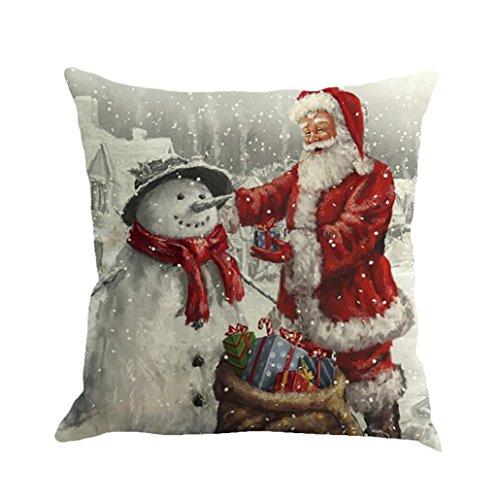 Kissenbezug Xinan Weihnachten Drucken Färben Sofa Bett Home Decor Kissen Cover (45cm*45cm, A)