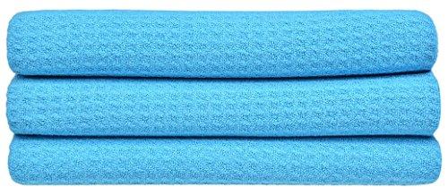 sinland-microfasertuch-waffel-glastuch-saugstark-streifenfreie-kratzfrei-40cmx40cm-blau-3-stuck