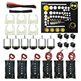 WOSKY 6 set Rectangular Mini Electric 1.5-3V 24000RPM DC Motor with 80 Pcs Plastic Gears,Electronic wire, 2 x AA Battery Holder,Motor Mounting Bracket