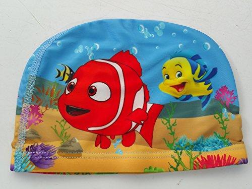 Cuffia da piscina in tessuto per bambini 2-10 anni, motivo: nemo