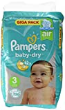 Pampers Baby Dry taille 3, 6-10 kg, Mega Plus Pack, 136 pièces