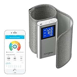 Koogeek Misuratore di Pressione Elettronico Braccio Superiore Approvato dalla FDA con Rilevazione della Frequenza Cardiaca Apple & Android Compatibile