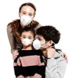 KANJEKANLE Wiederverwendbar Antibakteriell Staub Atmungsaktiv Waschbar Masken,Elektrostatischer Baumwolle Material,mit Atemschutzmaske Ventil,Eltern-Kind-Paket