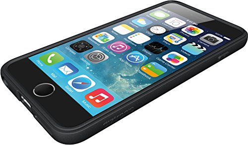 "iPhone 6 Plus Case, Diztronic Full Matte Soft Touch Flexible TPU Case for Apple iPhone 6 Plus & 6S Plus (5.5"") - Navy Blue Matte Black"