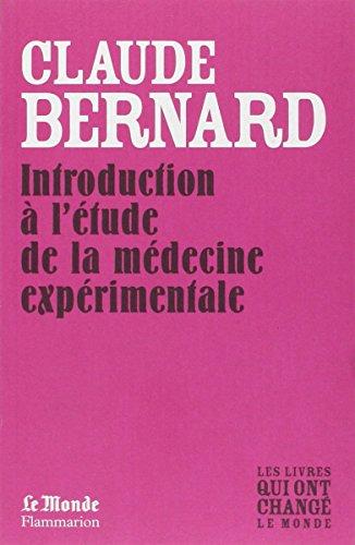 Introduction a l'Etude de la Medecine Experimentale (Monde) par Bernard Claude