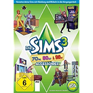 Die Sims 3: 70er, 80er & 90er-Accessoires Add-on [PC/Mac Instant Access]