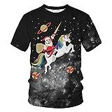 OOFAY Navidad Camisa de Manga Corta, 3D Impresiones Jersey, de Secado rápido Pareja Camiseta Santa muñeco de Nieve Transpirable Sudaderas Estampadas béisbol Europeo Digital Slim Fit,C,XL