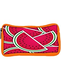 Snoogg Eco Friendly Canvas Watermelon Wedge Background Card In Vector Format Student Pen Pencil Case Coin Purse...