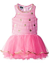 Mud Pie American Girls, Baby Toddler Glitter Dot Dress, Poofy Tutu