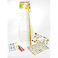 Childrens Height Chart Bundle - With over 40 Animal Stickers - Sharpie Marker Pen and 280 Reward Sticker Pack