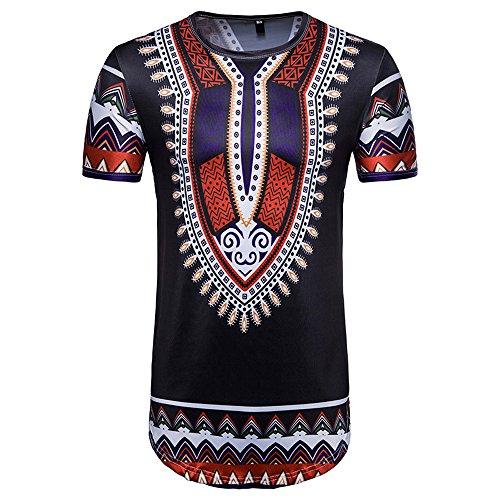 TWIFER Vintage Sommer T-Shirt Herren Casual Afrikanischen Gedruckt O Hals Pullover Kurzarm T-Shirt Top Bluse (Roy Lichtenstein-t-shirt)