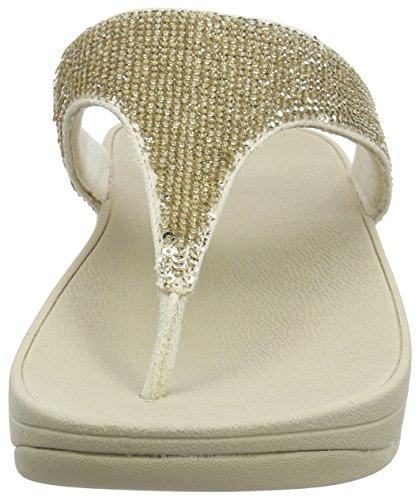 Fitflop Electra Micro Toe-post - Sandali a Punta Aperta, Donna Oro (Pale Gold)