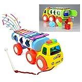 Gearmax Kinder Plastik Spielzeug Musikinstrumente Xylophon in Eisen und Form Sorter für 3 Jahre Kindheit Pädagogische Spiele, Nachziehspielzeug für Kinder Jungen und Mädchen