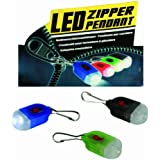 Flashing LED Zipper Pendant Light - Ideal for Runners, Joggers, Walkers on Dark Mornings and Nights- A great gift for Dads / Fathers Day