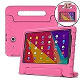 Samsung Galaxy Tab 3 Lite 7.0, E Lite 7.0 Hülle, [2-in-1 Griffige Tragehülle & Stand] COOPER DYNAMO Robuste Strapazierfähige Sturz- und Kindersichere Hülle + Stand & Displayschutz -Jungs Mädchen Erwachsene Ältere Pink