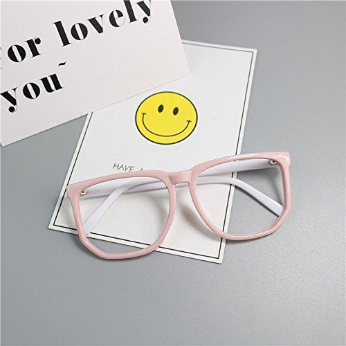 KLXEB Das Baby Kind Kinder Brille Frame Brille Anti UV-Sonnenbrille, Pulver,