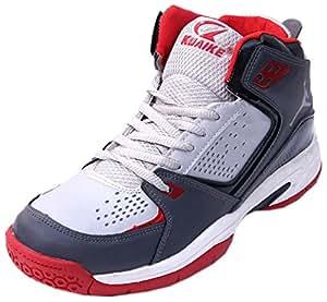 Kuaike Men's Red & White PU Basketball Shoes - 11 UK