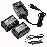 DSTE®(2 Pack)Ersatz Batterie und DC106E Reise Ladegerät Kit für Panasonic VW-VBK180 SDR-H100 SDR-H101 SDR-H85 SDR-S50 SDR-S70 SDR-S71 SDR-T50 SDR-T70 SDR-T71 SDR-T76 HC-V10 HC-V100 HC-V100M HC-V500