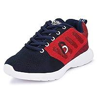 Bourge Boy's Red and Navy Running Shoes- 2 UK (36 EU) (3 US) (Orange-07)