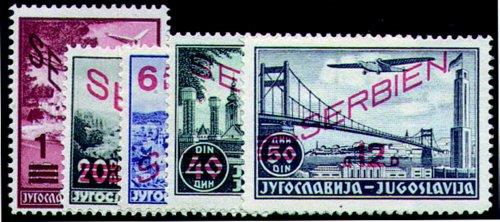 Goldhahn Deutsche Besetzung Serbien Nr. 26-30 postfrisch** Briefmarken für Sammler - 27 Besetzung