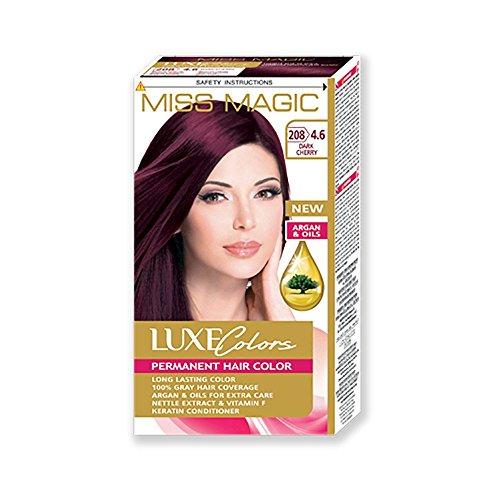 Uni-Haar Miss Magic dunkel färben Kirschrot Hair Colour mit Argan (Mandeln Dunkel Mit Spezielle)