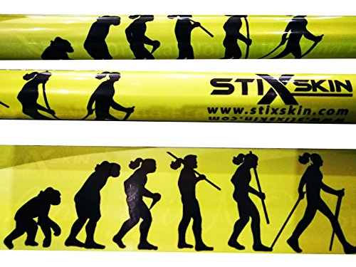 StiXskin 2 farbige dekorative Vinylfolien für Nordic Walking, Wandern, Trekking Walking Stöcke - Leki, Exel, Gabel, Fizan, Vipole, Swix