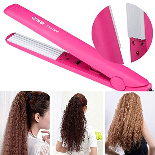 Crimper-kit (YL Hair Curling Curler Ceramic Hair Crimper Crimping Iron Perm Splint DIY Hairdressing Kit US Plug(Multi-ColorUS Plug))
