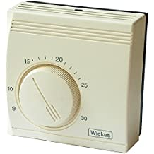 Wickes Universal Standard Room Thermostat Energy Saving Mechanical Temperature Control (Mounting Plate Included) by Wickes