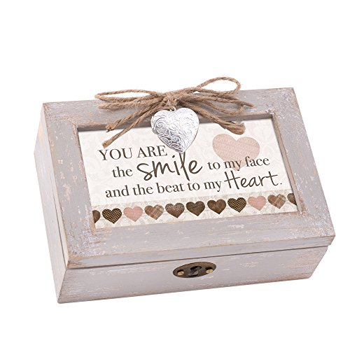 (Cottage Garden Beat to My Heart Taupe Holz Medaillon Petite Musik Box You Light up My Life)