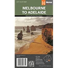 Melbourne to Adelaide 1 : 450 000: featuring the Great Ocean Road/City maps/24 hour fuel/Camping areas/Distance charts/Tourist attractions/Roadside rest areas