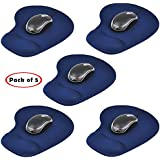 """Oxyura™ 'Pack Of 5"""" Wrist Rest Comfort Mouse Pad (Blue Or Black)"""