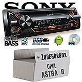 Opel Astra G - Sony CDX-G1201U - CD/MP3/USB Autoradio - Einbauset