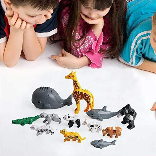 in-Sets, Figuren Ziegel Spielzeug, Lernmodell für Kinder, Goodie Bags, Geburtstag, Karneval Preise (12 Stück) ()