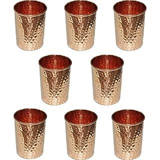 AVS Store reines Kupfer Glas haben, für Heilung Ayurvedische Geschirr Zubehör Set von 8